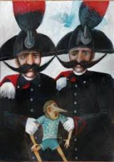 pinocchio e i carabinieri in mostra alla Cernaia
